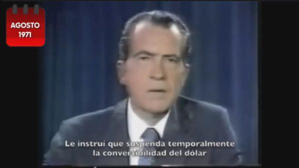 Nixon eliminando el patrón oro